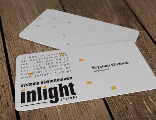 Wizytówki plastikowe Inlight