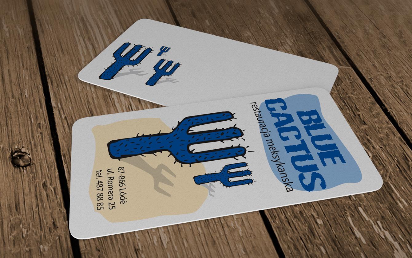 Wizytówki plastikowe Blue