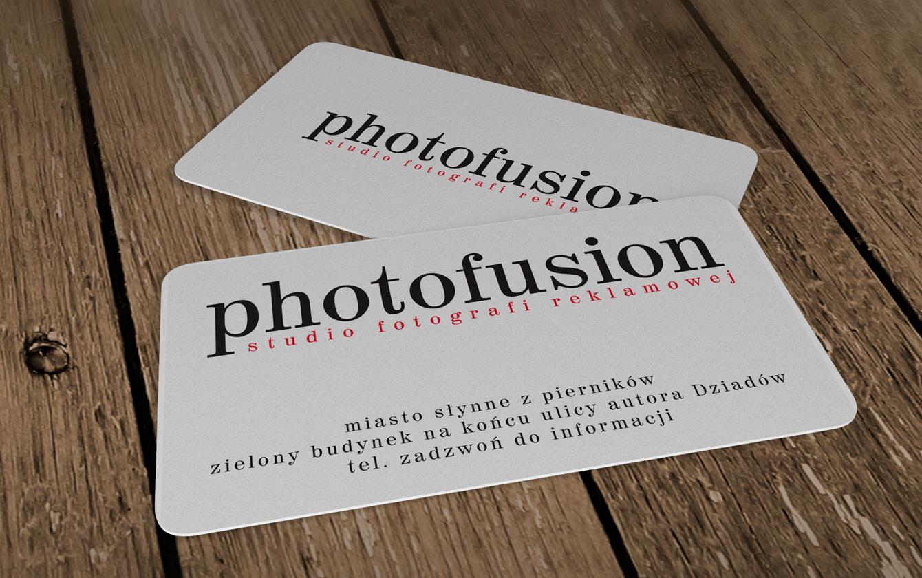 Wizytówki plastikowe Photofusion